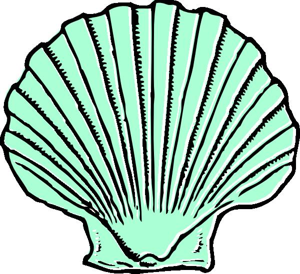 aqua seashell clip art at clker com vector clip art online rh clker com seashell clip art free seashells clipart png