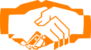 Handshake Orange Clip Art
