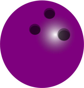 Purple Bowling Ball Clip Art