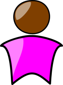 Person In Pink Clip Art