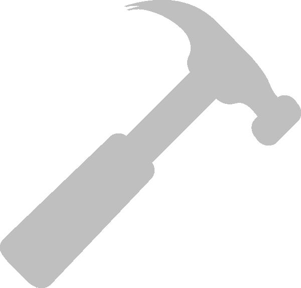 grey hammer no line clip art at clker com