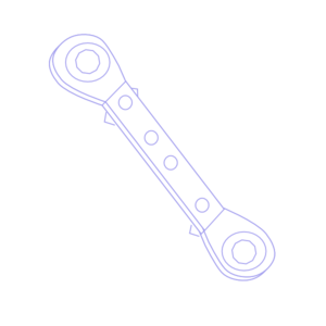 Ratchet Spanner Icon Clip Art