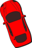Red Car - Top View - 110 Clip Art
