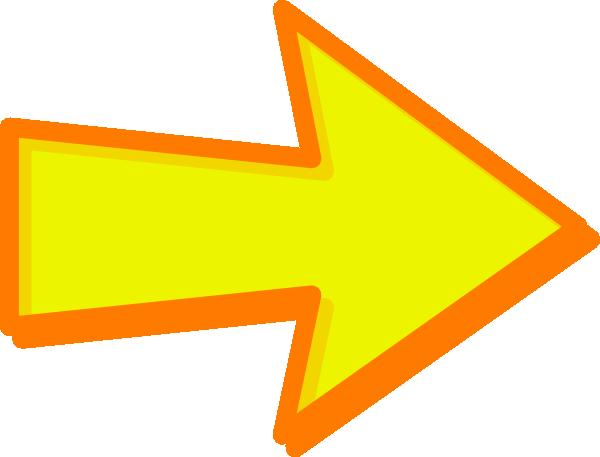 Yellow Arrow Orange Clip Art at Clker.com - vector clip ...
