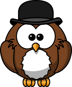 Owl With Hat Clip Art
