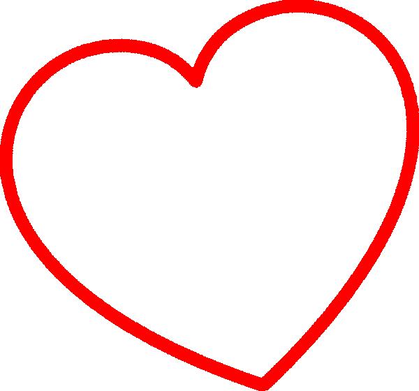 Red Heart Outlines | www.pixshark.com - Images Galleries ...