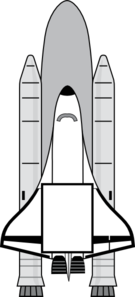 Space Shuttle Invitation Clip Art