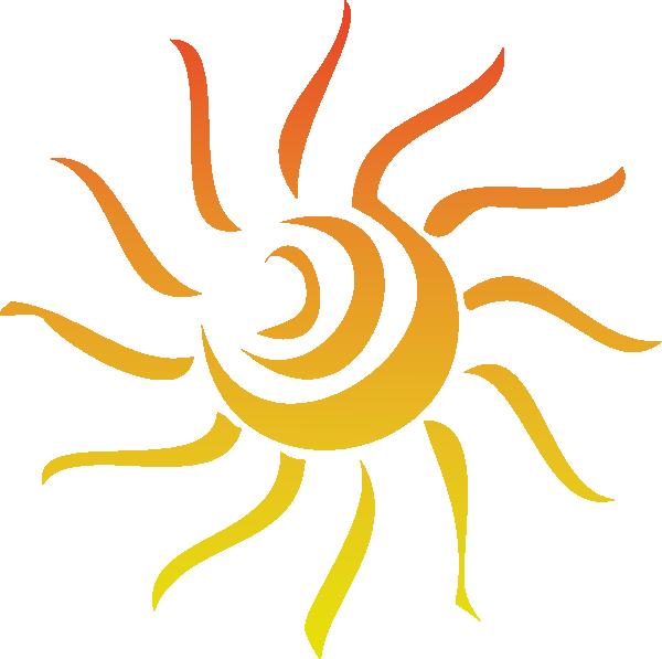 Line Drawing Sun Vector : Mod sun rays clip art at clker vector