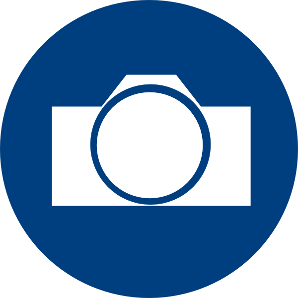blue camera icon clip art at clkercom vector clip art