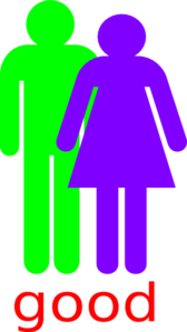 Boy And 2 Girls Stick Figure - Good Clip Art