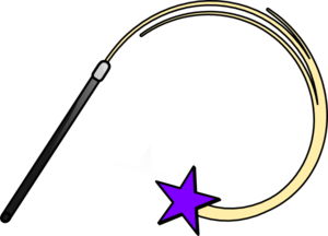 Magic Wand Purple Clip Art
