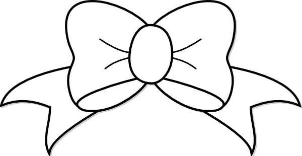 Black And White Bow Clip Art at Clker.com - vector clip ...
