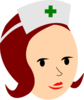 Nurse-red Clip Art