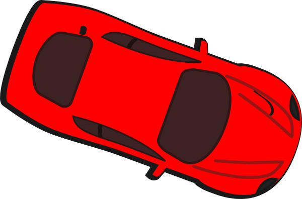 Car Png Top View Red Car Top View 340 Clipart