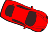Red Car - Top View - 340 Clip Art