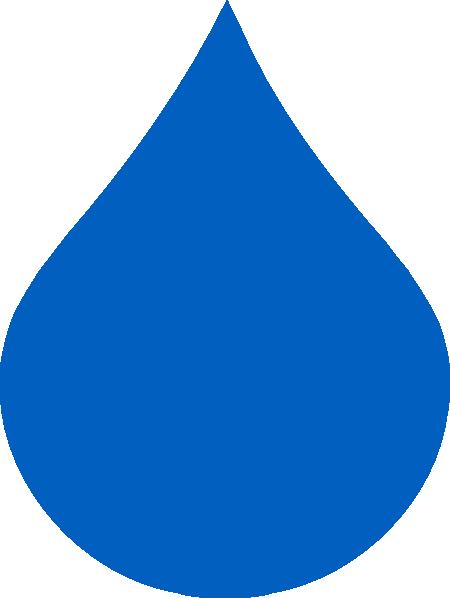 Blue Rain Drop Clip Art at Clker.com - vector clip art online, royalty ...