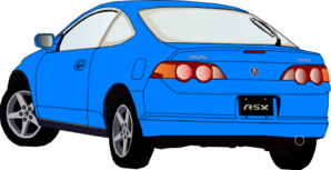 Carro Accura Azul Clip Art