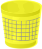 Yellow Trash Can Clip Art