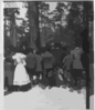 [theodore Roosevelt Standing In A Wooded Area, Speaking To Group Of African American Children] Clip Art