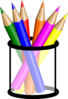 Colored Pencils In Cup Clip Art