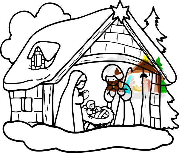 manger house clip art at clker com vector clip art online royalty rh clker com manger clipart christian manger clipart black and white