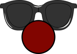 Clown Nose With  Clear Glasses Clip Art