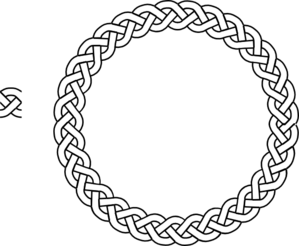 3-plait Border Circle Clip Art