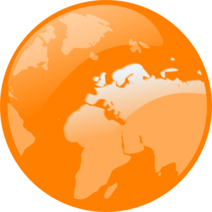 Orange Earth Clip Art