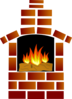 Brick Oven With Flames Clip Art