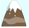 Brown Mountain With Sky And Clouds Clip Art