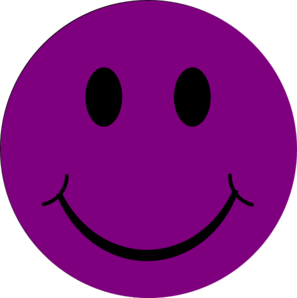 Dark Purple Happy Clip Art