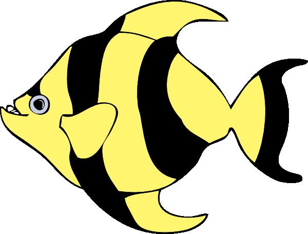 Yellow Fish Clip Art Black Yellow Fish Clip...