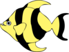 Black Yellow Fish Clip Art
