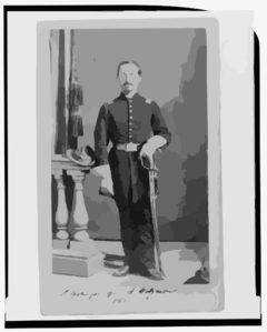 [captain Isidore Esslinger, Union Officer In The 32nd Indiana  Regiment, Full-length Portrait, Standing, Facing Front] Clip Art