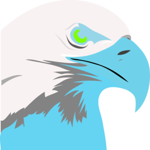 Light Blue Eagle2 Clip Art