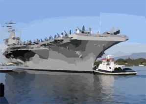 Uss Nimitz (cvn 68), Makes A Port Visit In Pearl Harbor Before Continuing On Her Scheduled Deployment Clip Art