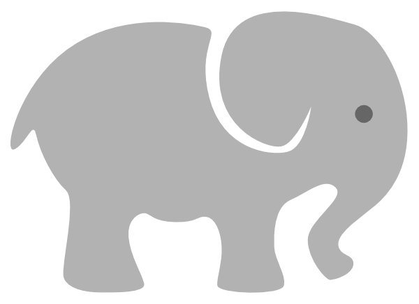 light grey baby elephant clip art at clker com vector clip art rh clker com baby elephant clip art black and white baby elephant clipart svg