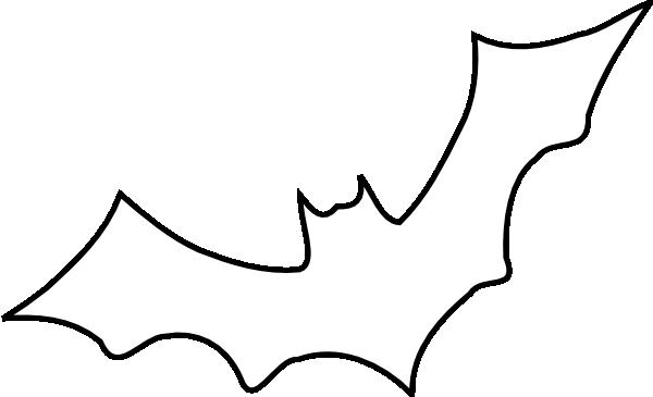 Outline Bat Clip Art at Clker.com - vector clip art online, royalty ...