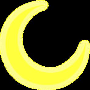 Yellow Crescent Clip Art at Clker.com - vector clip art online ...