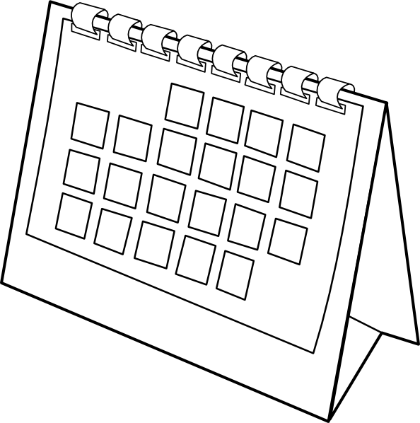 Blank Calendar Clipart Black And White : Calendar clip art at clker vector online
