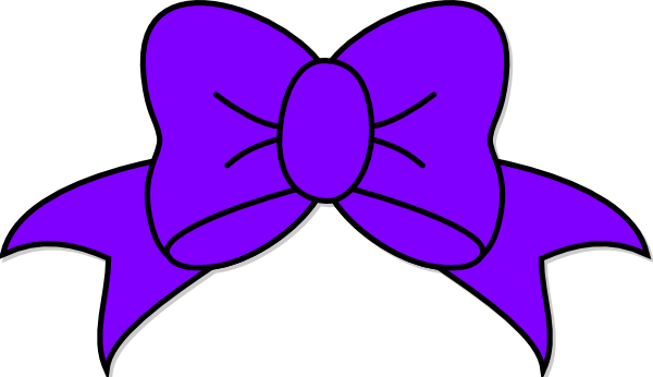purple bow clip art at clker com vector clip art online royalty rh clker com clipart bows and ribbons cheer bows clipart