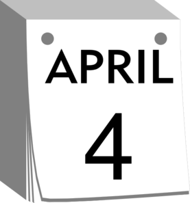 April Calendar  Clip Art