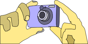 Holding Digital Camera Clip Art
