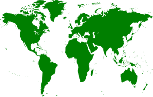 World Map Green Clip Art