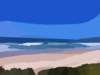 Abstract Beach Landscape Clip Art