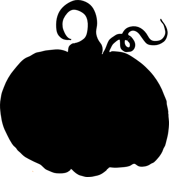 Pumpkin Sihouette Clip Art at Clker.com - vector clip art ...