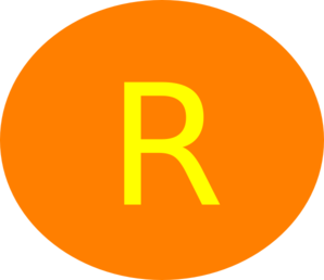 Letter R Circle Orange Clip Art