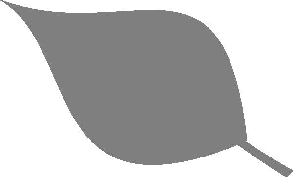 Grey Simple Leaf 2 Clip Art at Clker.com - vector clip art ...