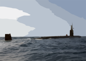 The Los Angeles-class Attack Submarine Uss Toledo (ssn 769) Surfaces To Conduct A Small Boat Transfer Using A Rigid Hull Inflatable Boat (rhib). Clip Art