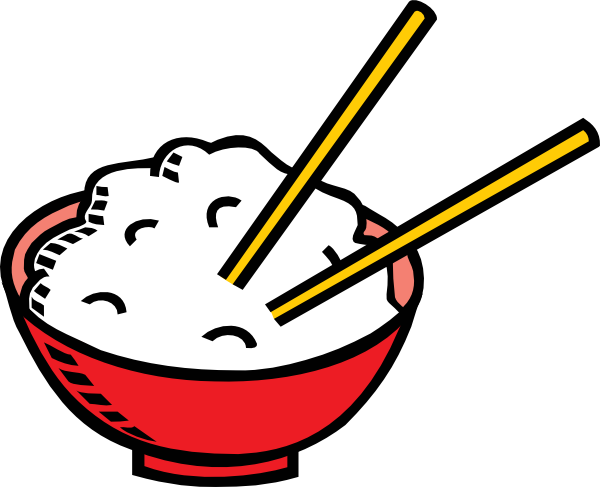 Bowl Of Rice And Chopsticks Clip Art at Clker.com - vector ...